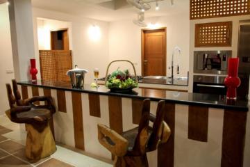 bar corner and kitchen
